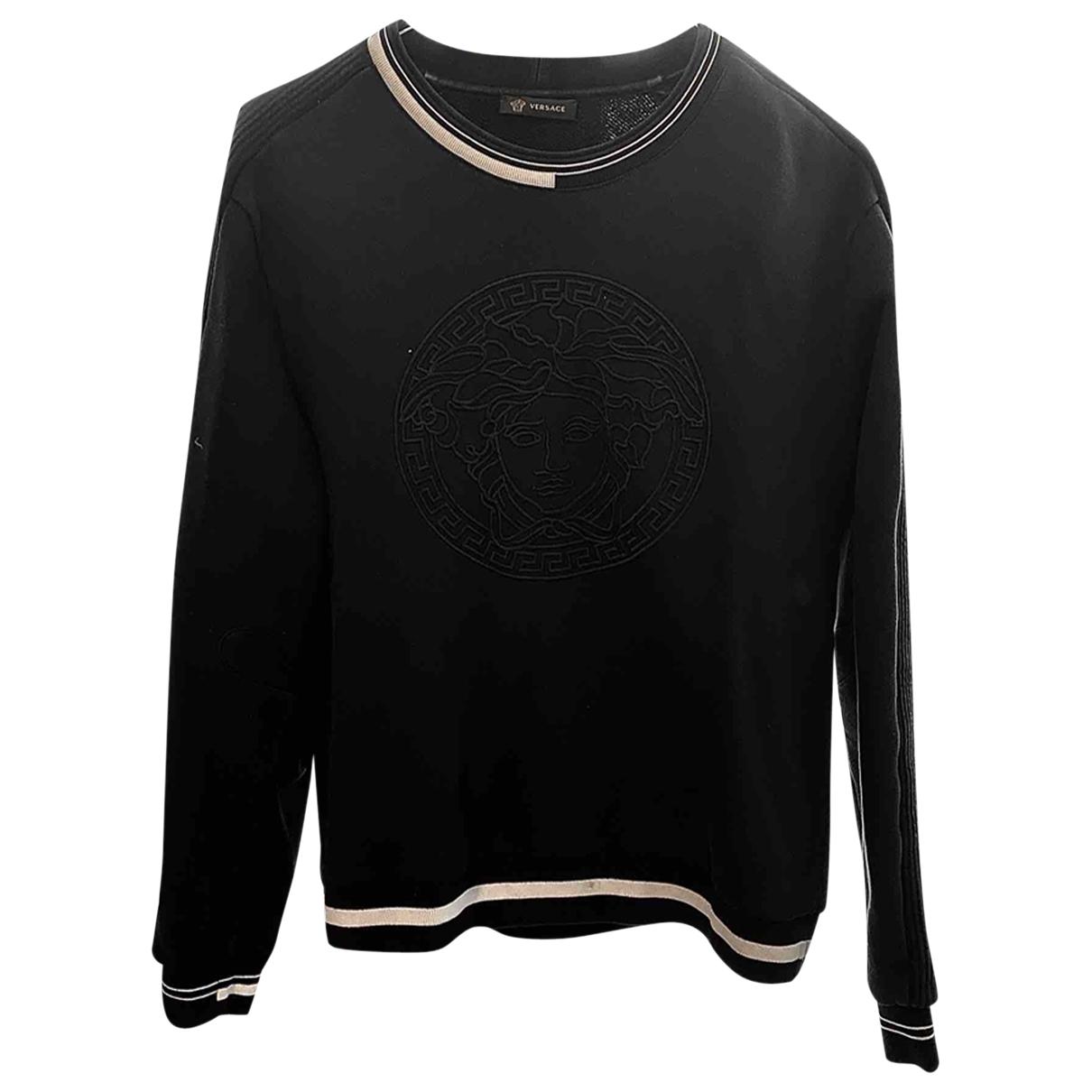 Versace \N Pullover.Westen.Sweatshirts  in  Marine Baumwolle