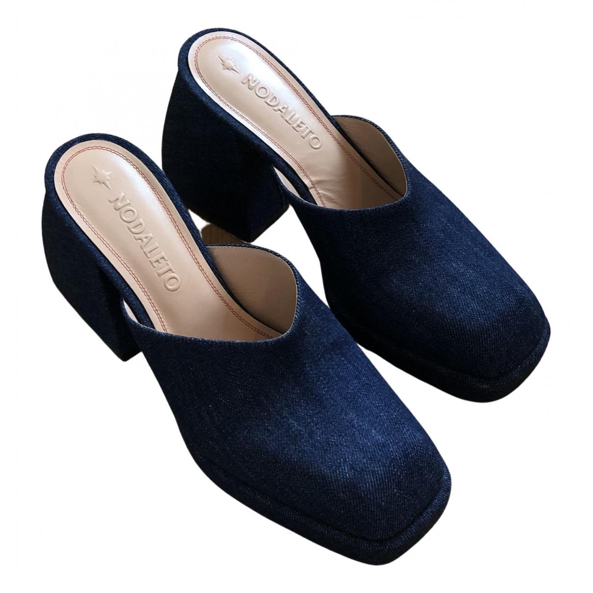 Nodaleto - Sandales   pour femme en toile - bleu