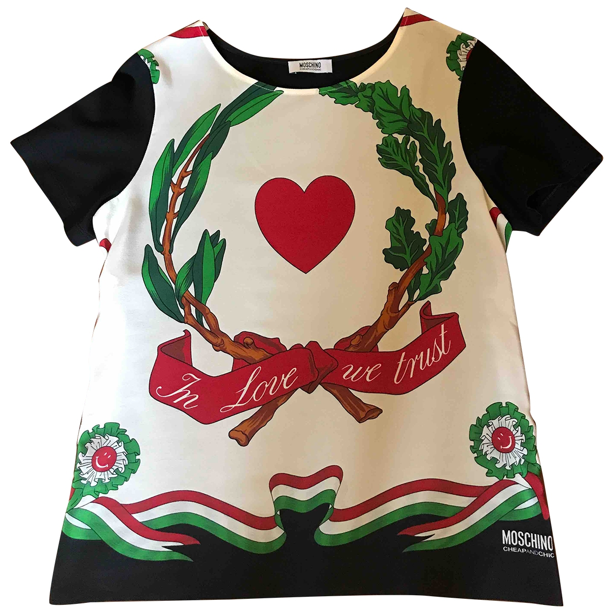 Camiseta de Seda Moschino Cheap And Chic