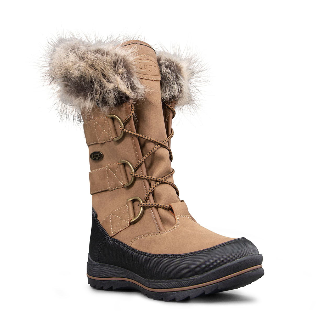 Women's Tundra Fold Down Boot (Choose Your Color: ROASTED CASHEW/BROWN/BLACK, Choose Your Size: 6.0)