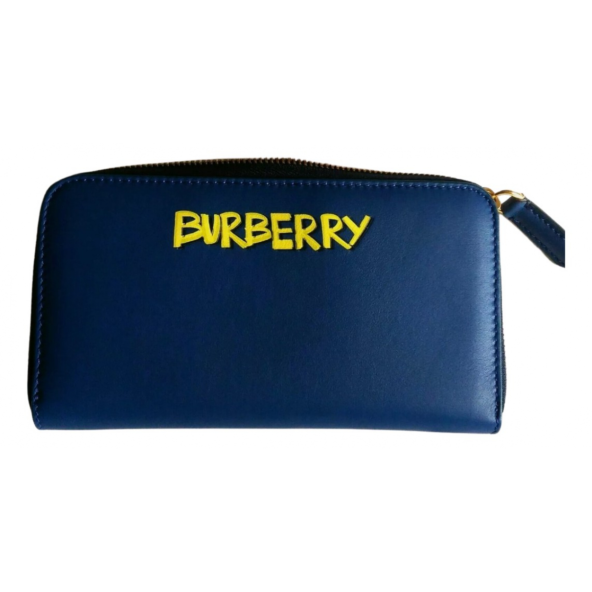 Burberry \N Portemonnaie in  Blau Leder