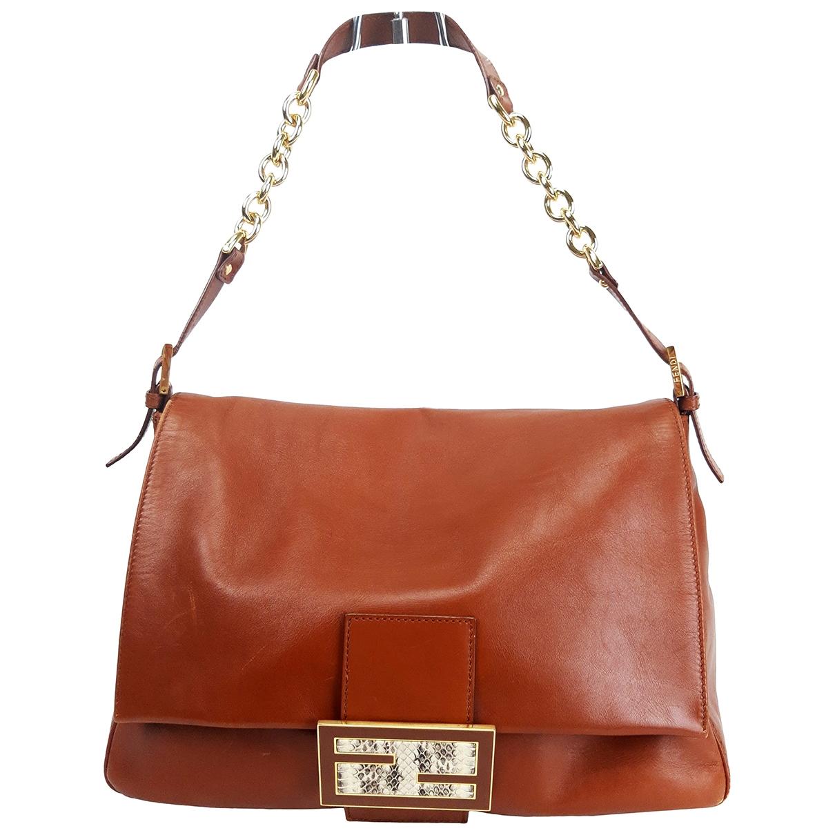 Fendi Mamma Baguette  Brown Leather handbag for Women \N