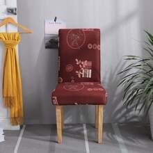 Dehnbarer Stuhlbezug mit Karo Muster