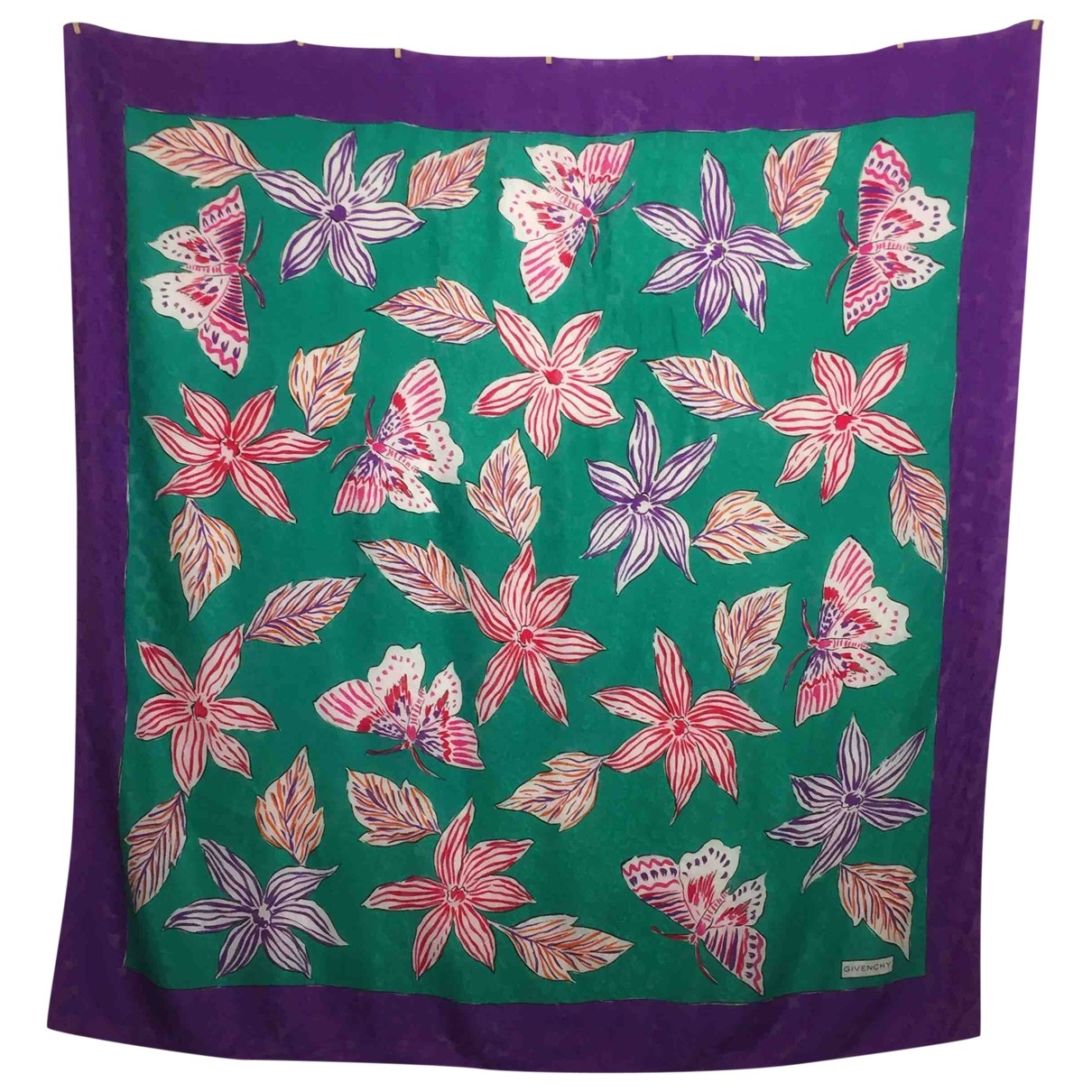 Givenchy \N Green Cotton scarf for Women \N