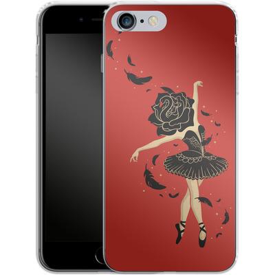 Apple iPhone 6s Plus Silikon Handyhuelle - Black Swan von Enkel Dika