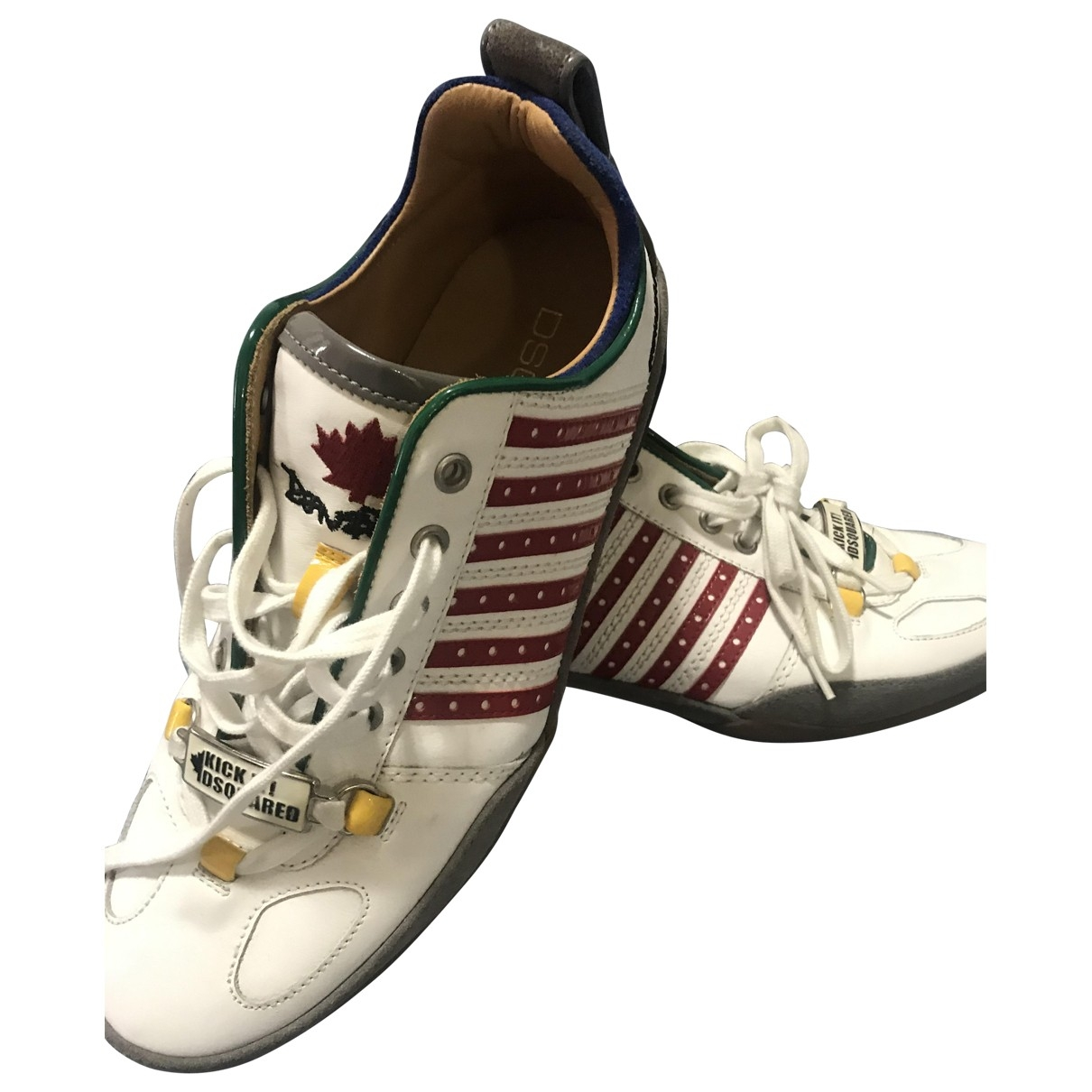 Dsquared2 \N White Leather Trainers for Women 39 EU