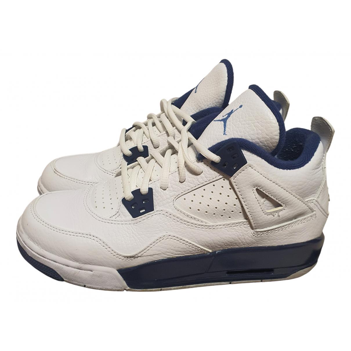 Jordan - Baskets Air Jordan 4 pour femme en cuir - blanc