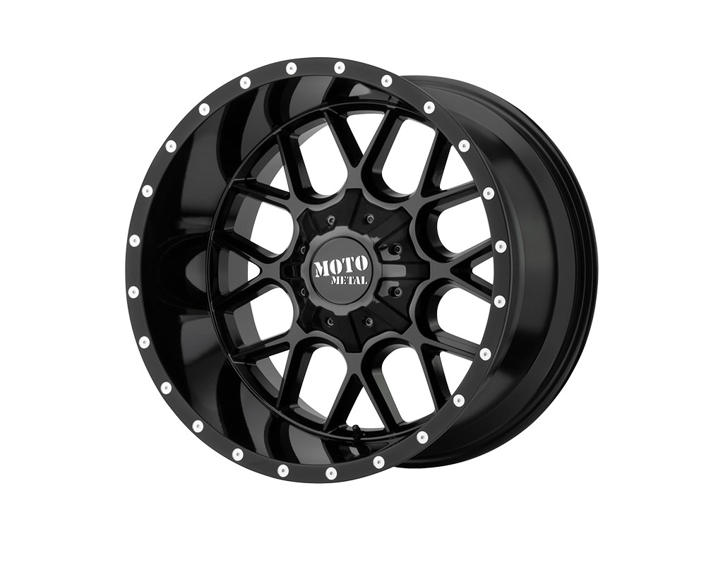 Moto Metal MO986290803A18 MO986 Siege Wheel 20x9 8x8x165.1 +18mm Gloss Black