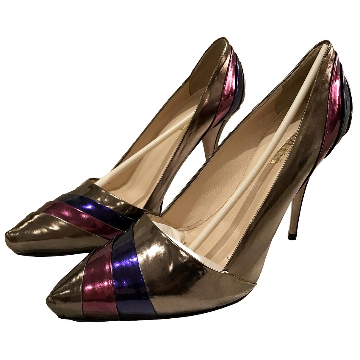 Prada \N Multicolour Leather Heels for Women 37 EU
