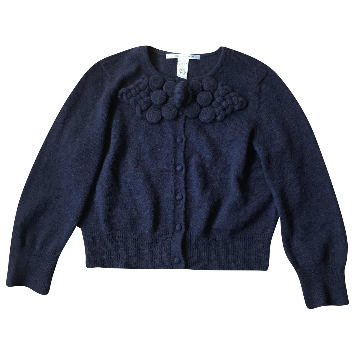 Diane Von Furstenberg \N Pullover in  Marine Wolle