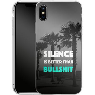 Apple iPhone X Silikon Handyhuelle - Silence Is Better von Statements