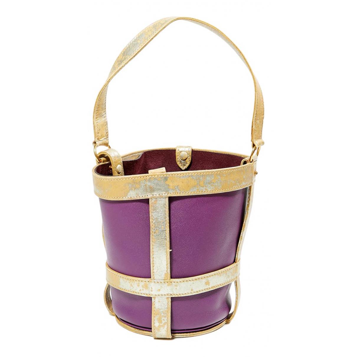 Hermes Mangeoire Handtasche in  Lila Leder