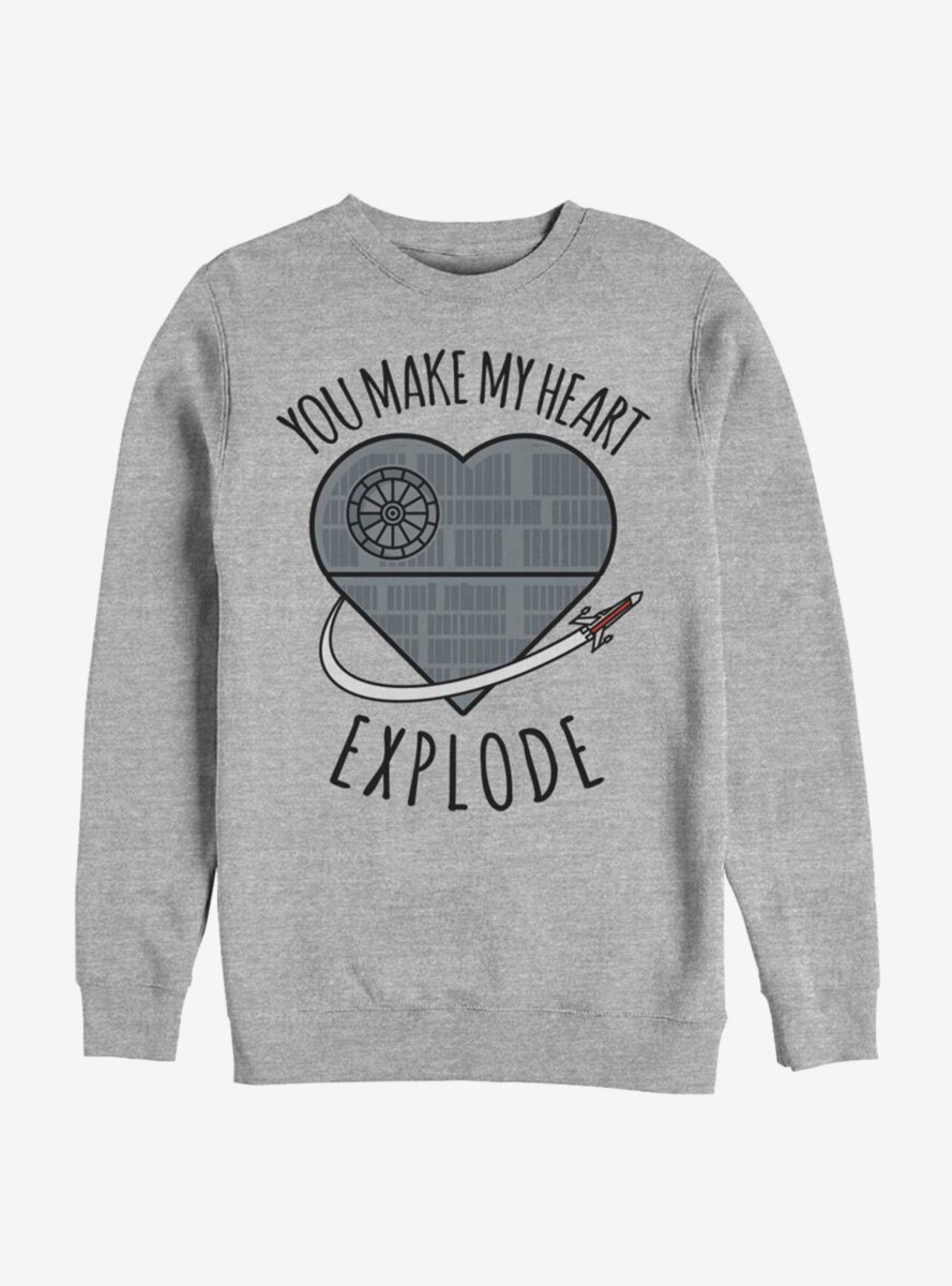 Star Wars Heart Explode Death Star Sweatshirt