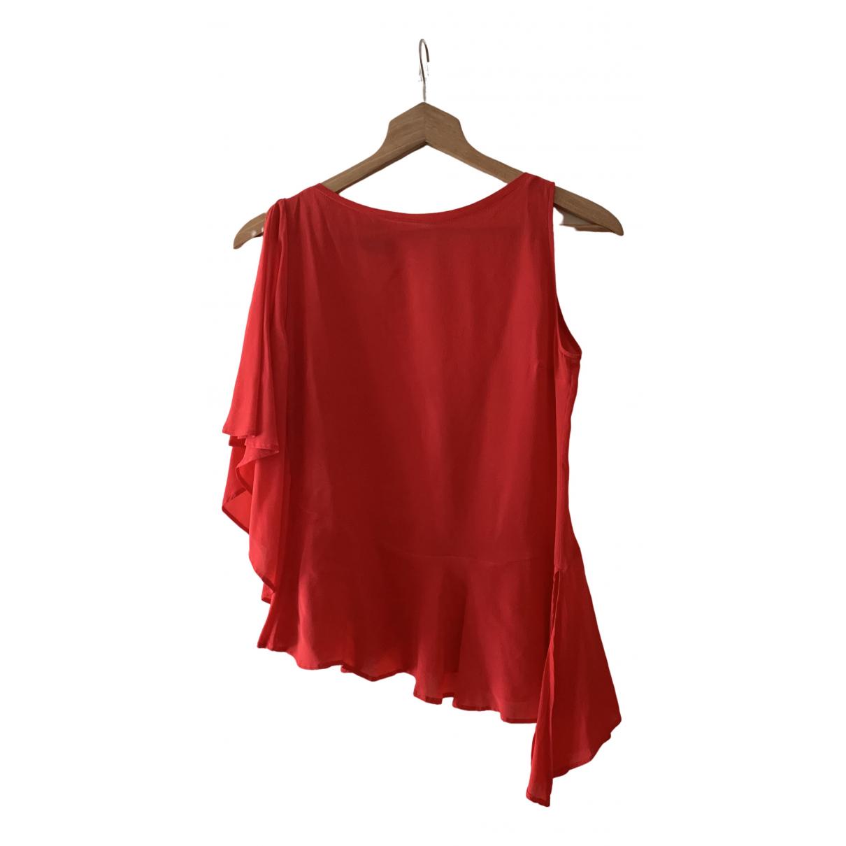 Pinko - Top   pour femme en soie - rouge