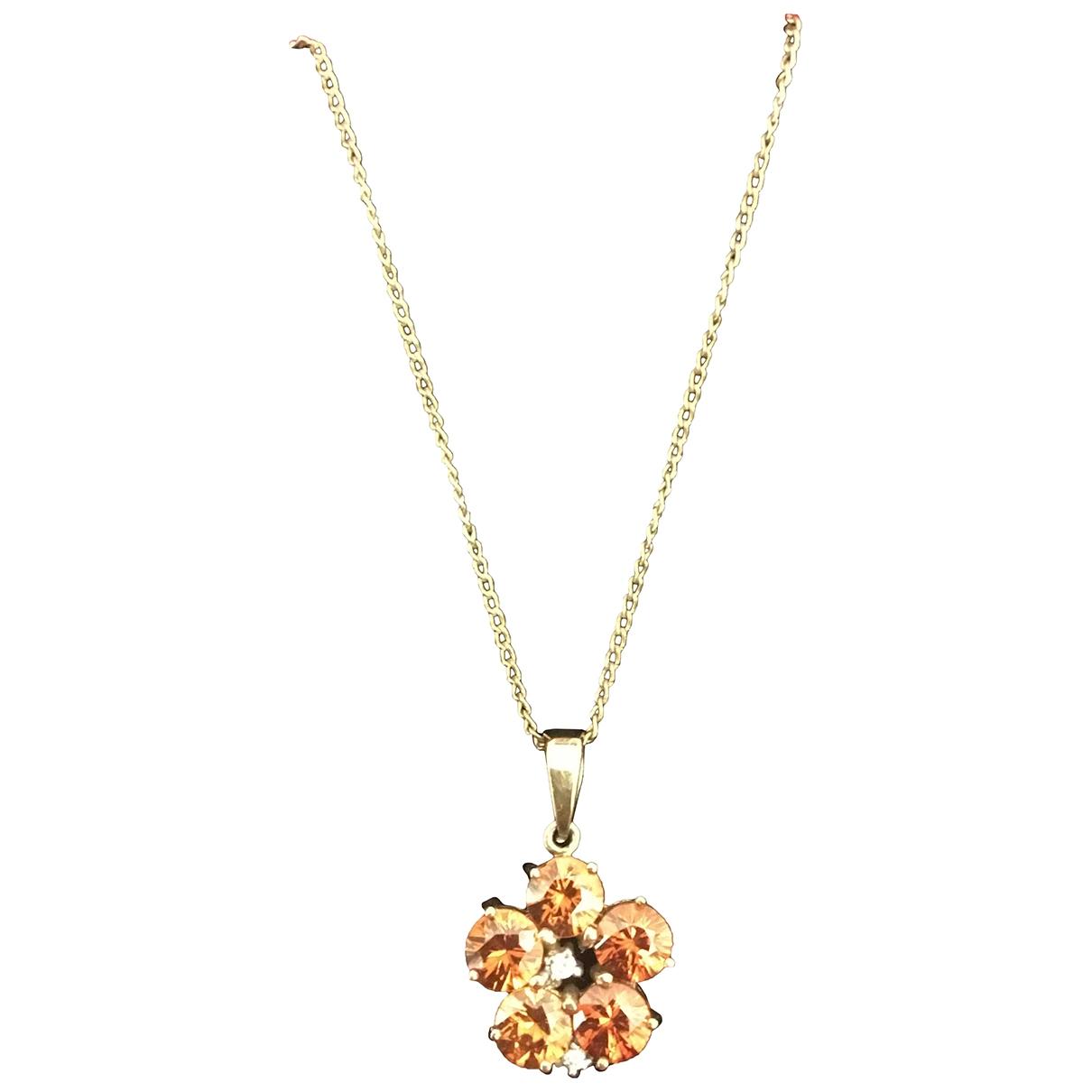 - Pendentif Motifs Floraux pour femme en or jaune - dore