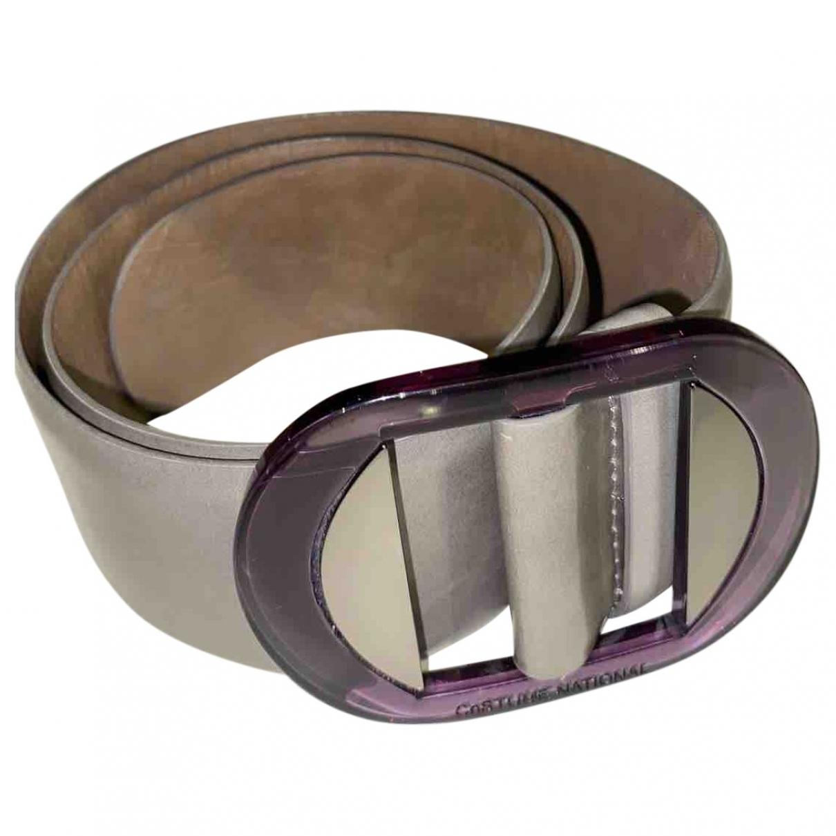 Costume National \N Grey Leather belt for Women 70 cm