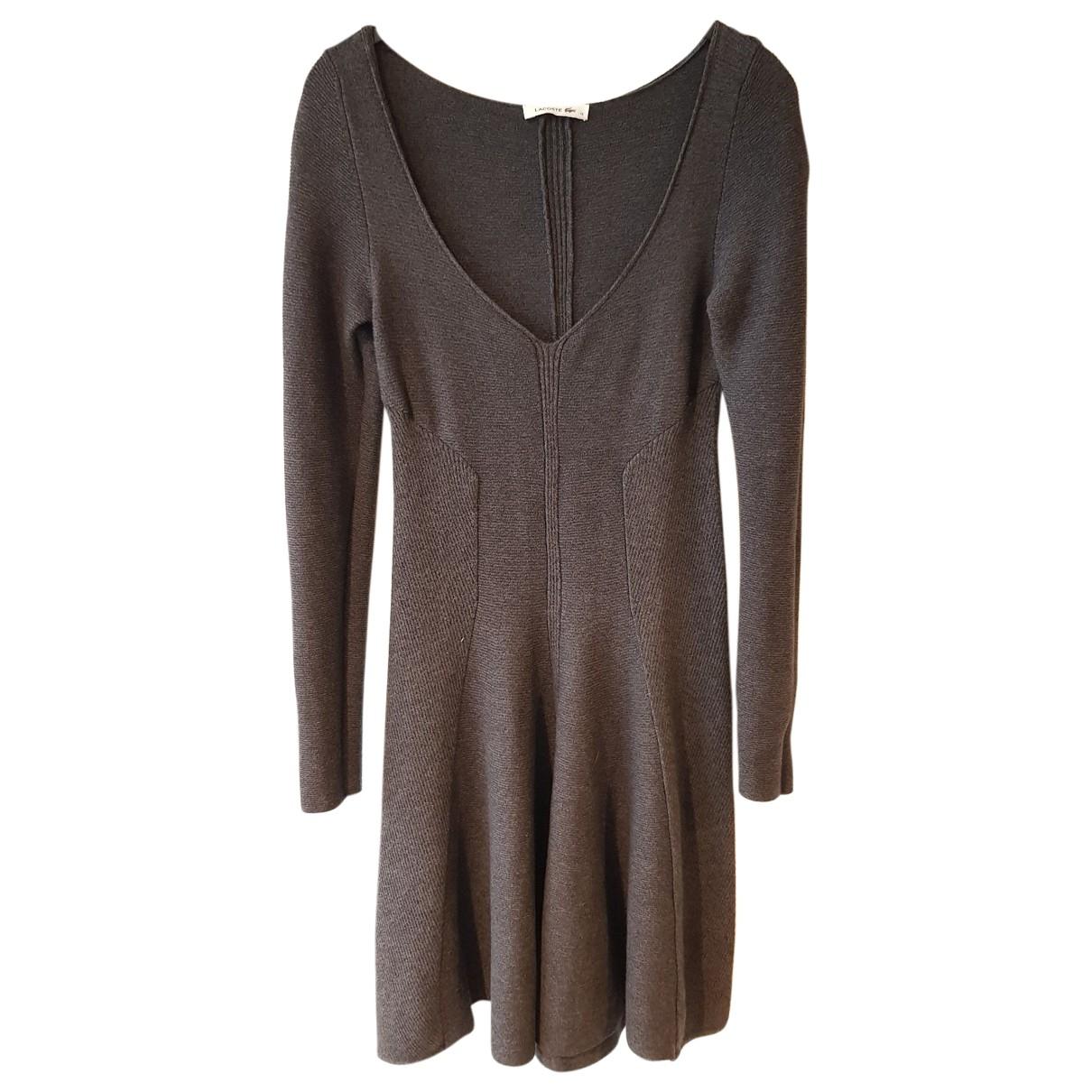 Lacoste - Robe   pour femme en laine - gris