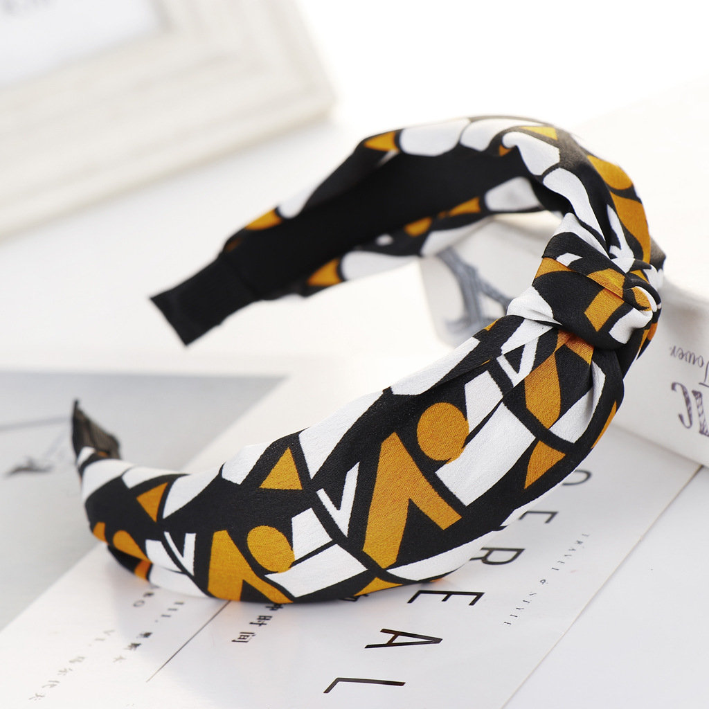 Woman's Plaid Leopard Print Color Headband Hair Clip