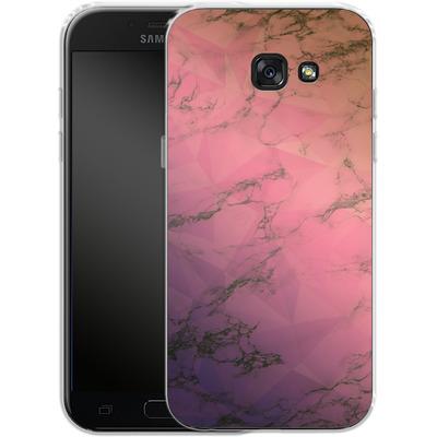 Samsung Galaxy A5 (2017) Silikon Handyhuelle - Marbled Triangles von Joel Perroden