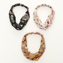 3pcs Ditsy Flower Pattern Headband