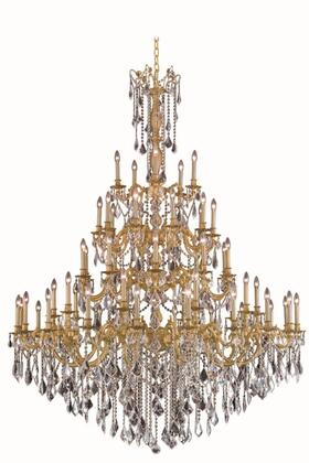 9255G64FG/EC 9255 Rosalia Collection Large Hanging Fixture D64in H84in Lt: 55 French Gold Finish (Elegant Cut