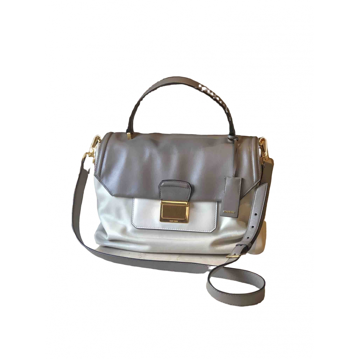 Miu Miu Bow bag White Leather handbag for Women \N