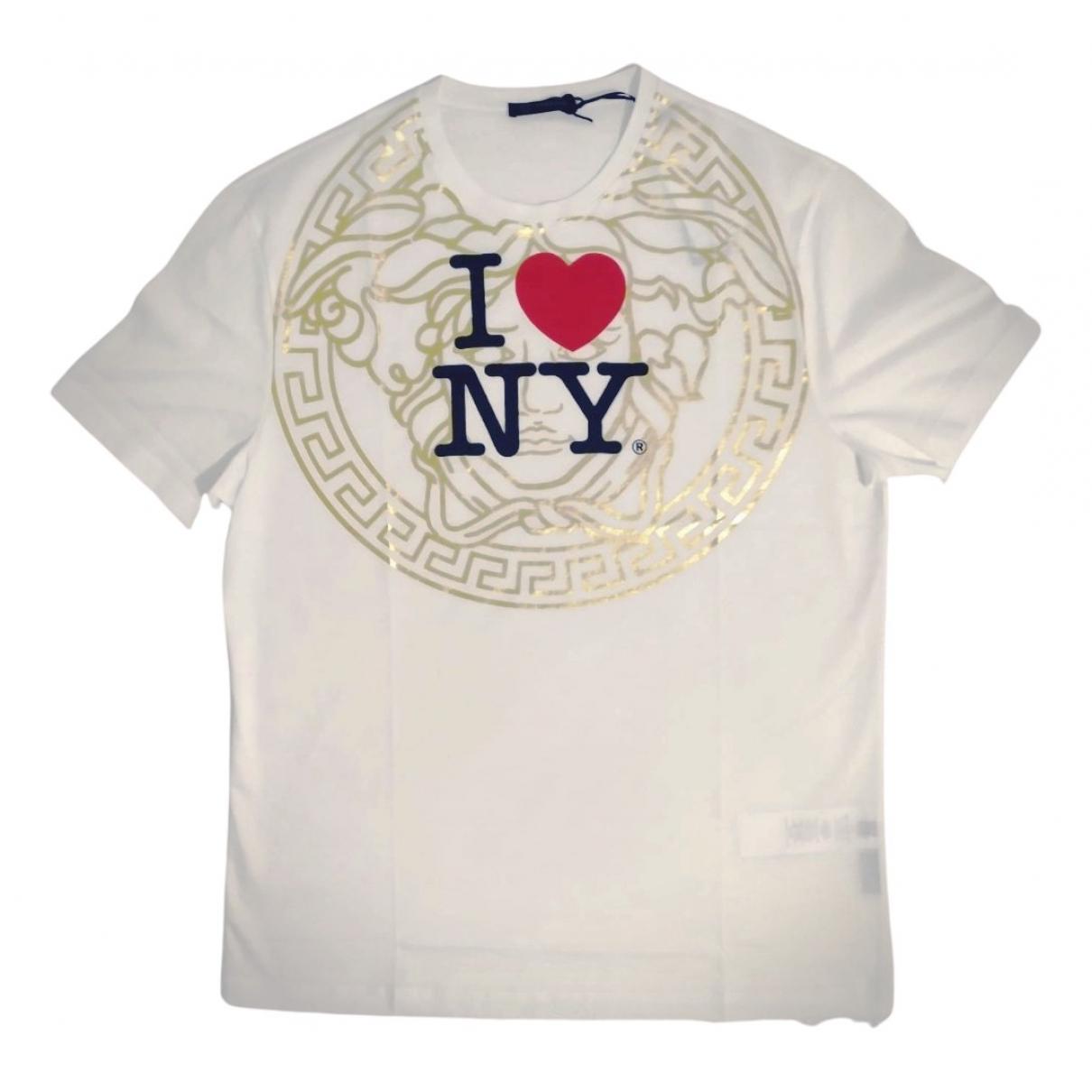 Versace N White Cotton T-shirts for Men XL International