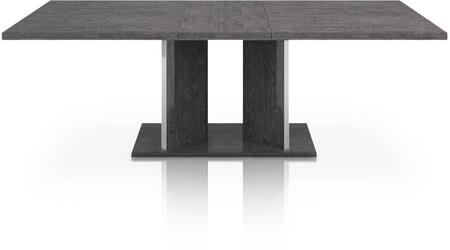 2155-EXDT.GBHG Noble Collection 2155-Exdt.Gbhg Extension Dining Table In Grey