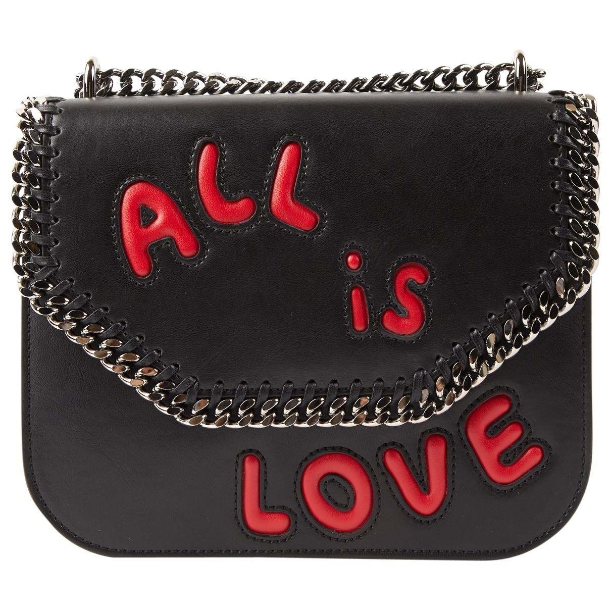 Stella Mccartney Falabella Box Handtasche in  Schwarz Leder