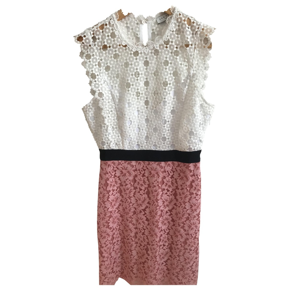 Sandro Spring Summer 2019 Pink Lace dress for Women 38 FR
