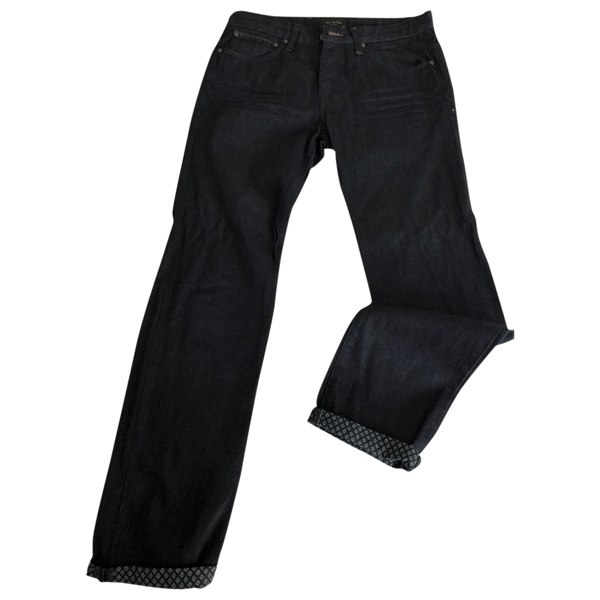 Ted Baker \N Blue Cotton Jeans for Men 38 FR