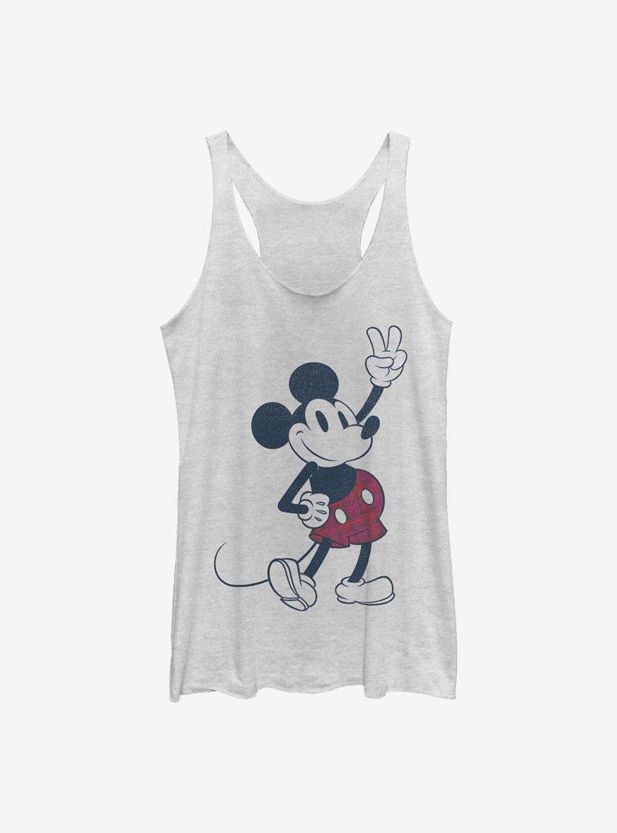 Disney Mickey Mouse Plaid Mickey Womens Tank Top