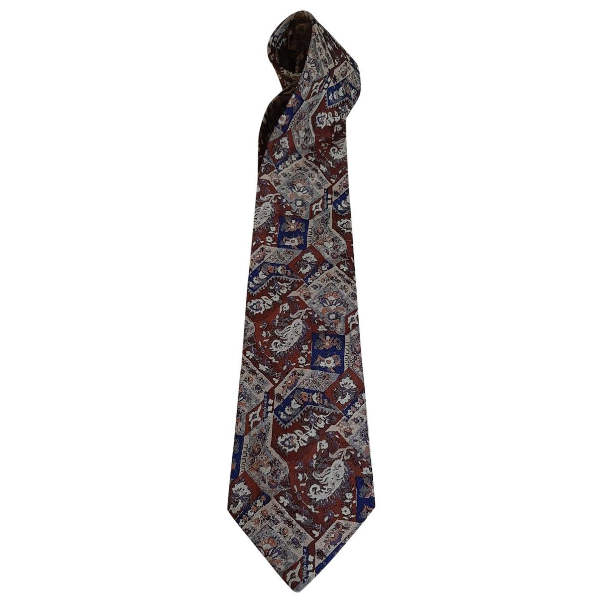 Trussardi - Cravates   pour homme en soie - multicolore