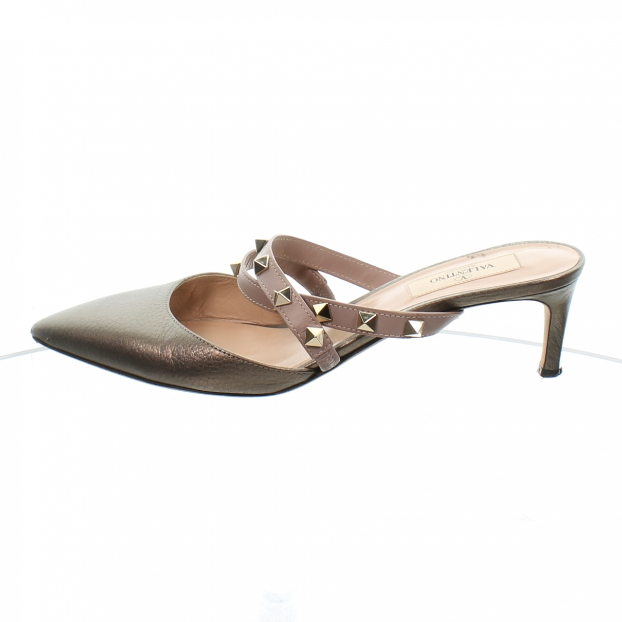 Valentino Garavani \N Metallic Leather Mules & Clogs for Women 37.5 EU