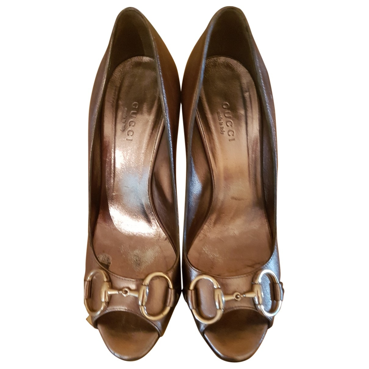 Gucci \N Metallic Leather Heels for Women 36 EU