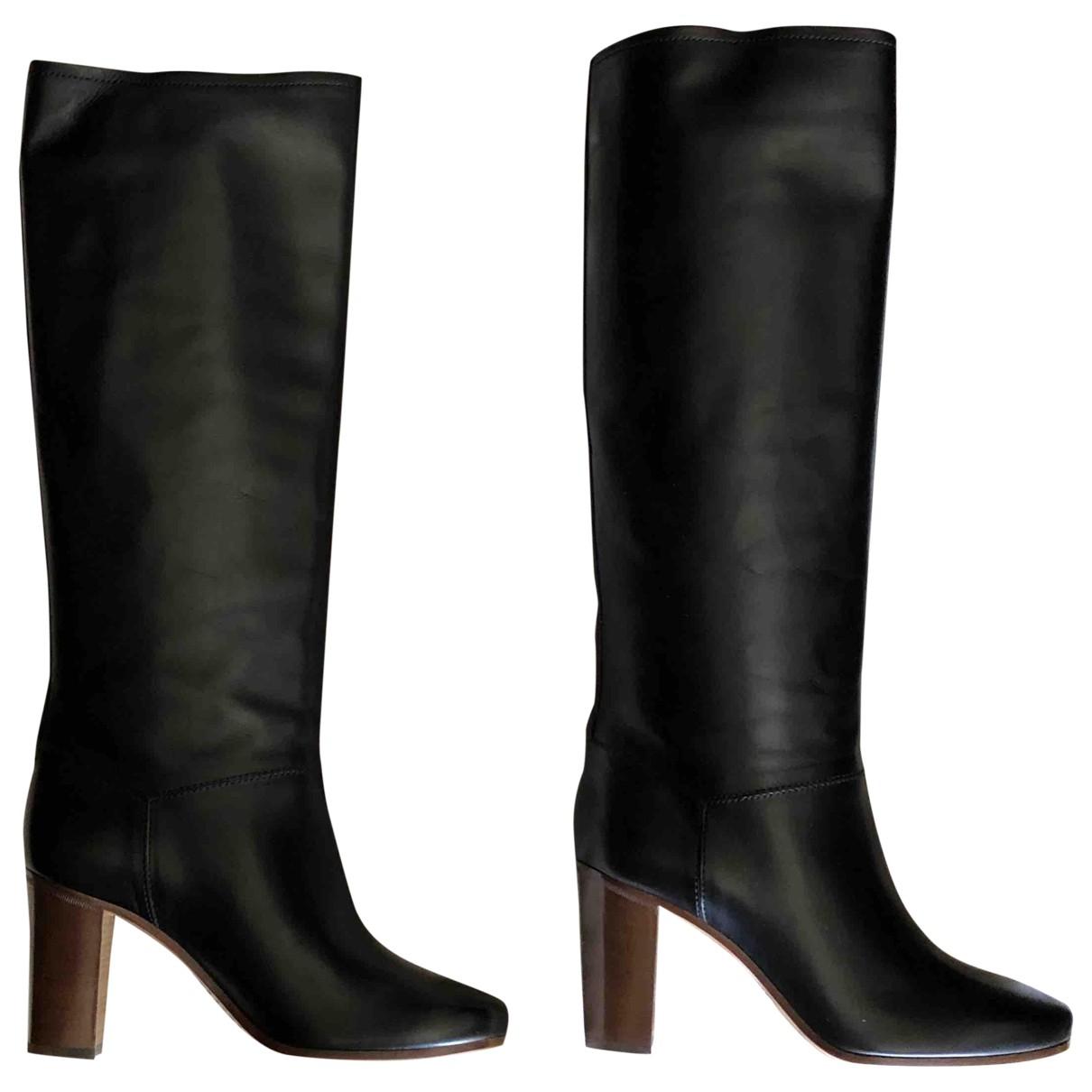 Celine \N Black Leather Boots for Women 38 EU