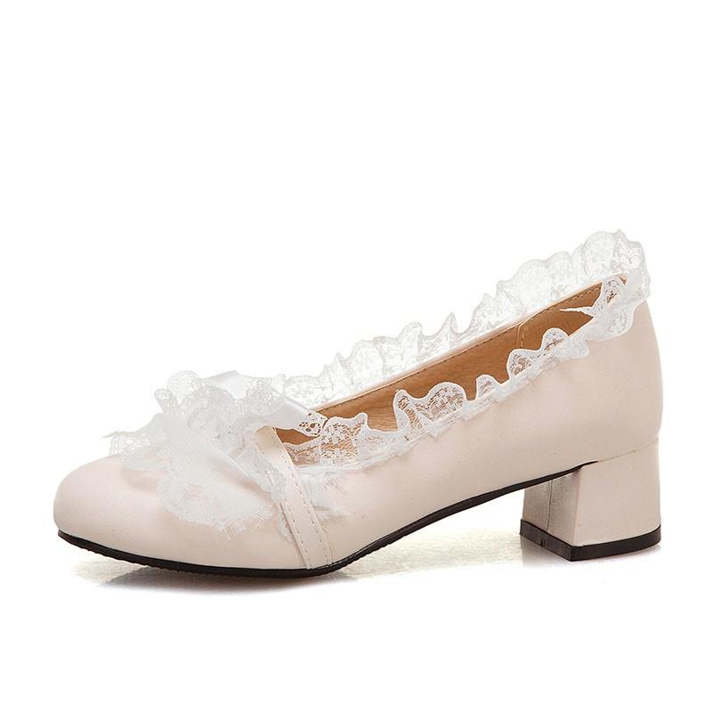 Ericdress Slip-On Thread Round Toe 5cm Thin Shoes