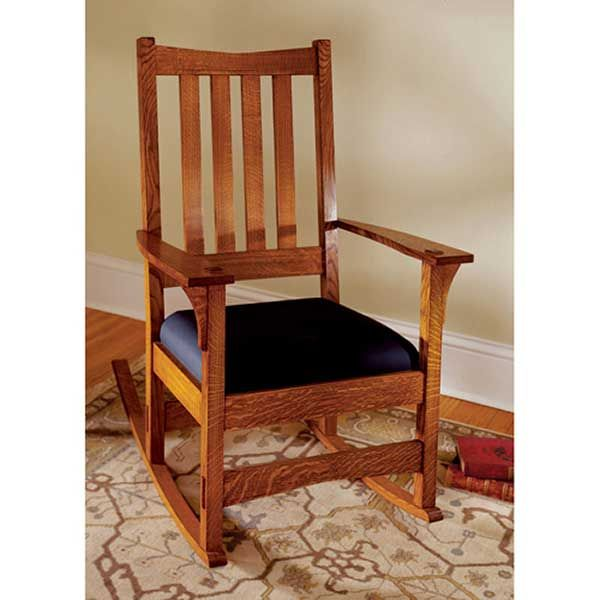 Woodworking Project Paper Plan to Build Two-In-One Arts and Crafts Chair/Rocker