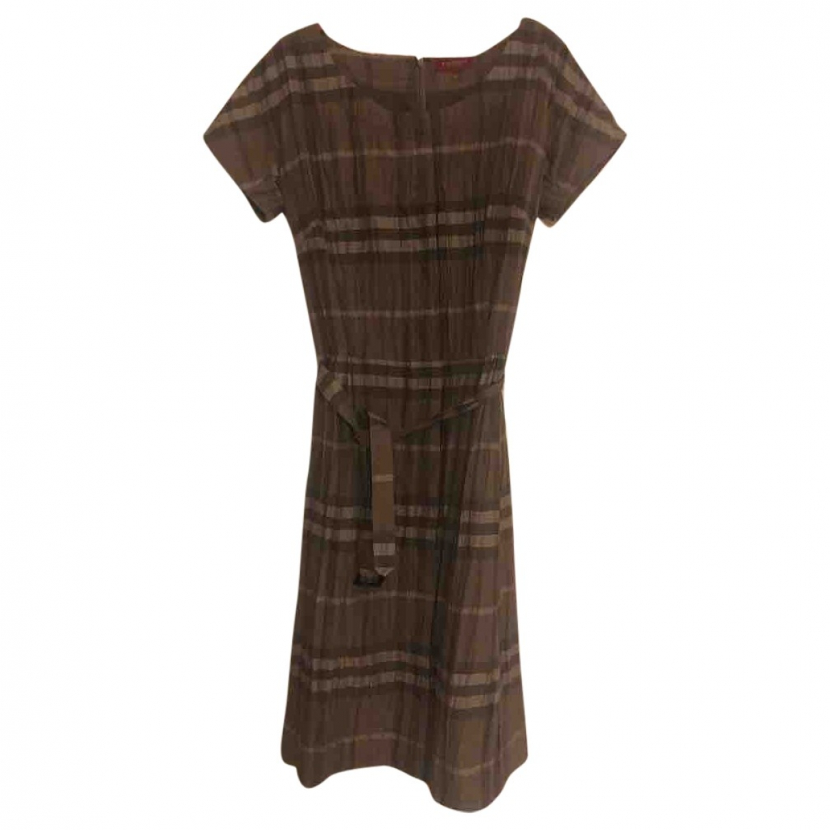 Burberry \N Brown Cotton dress for Women 42 IT