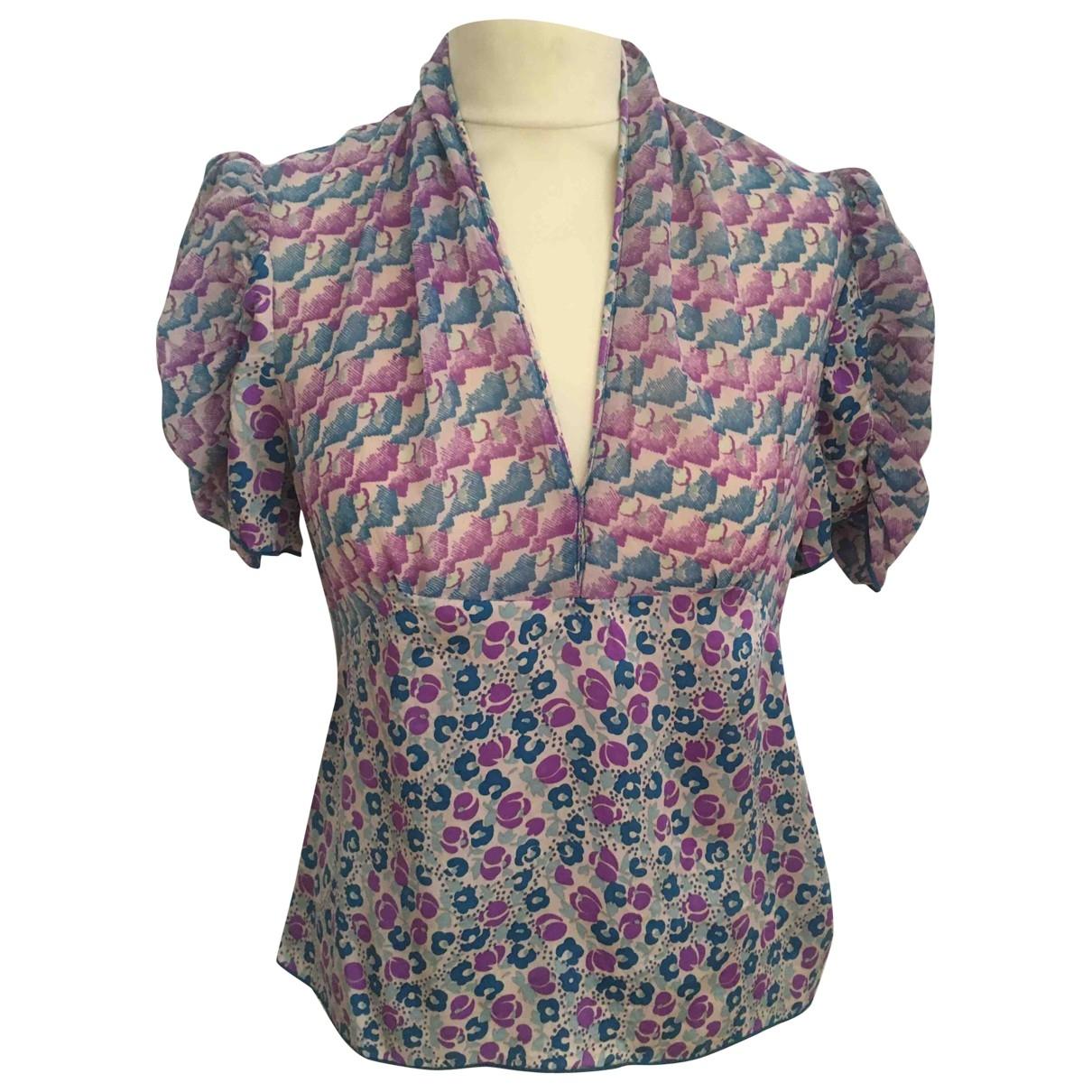 Anna Sui - Top   pour femme en soie - multicolore