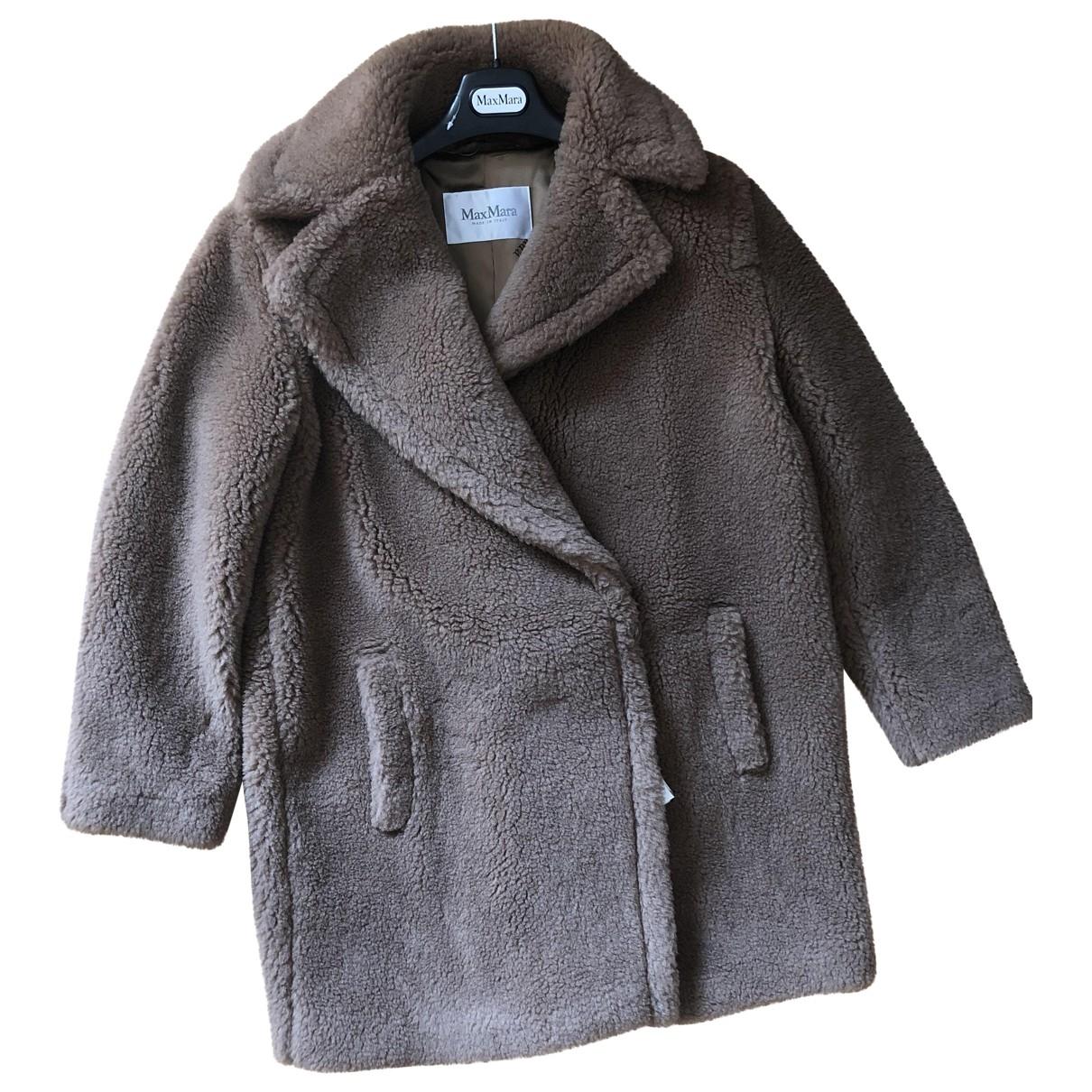 Max Mara - Manteau Teddy Bear Icon pour femme en laine - marron