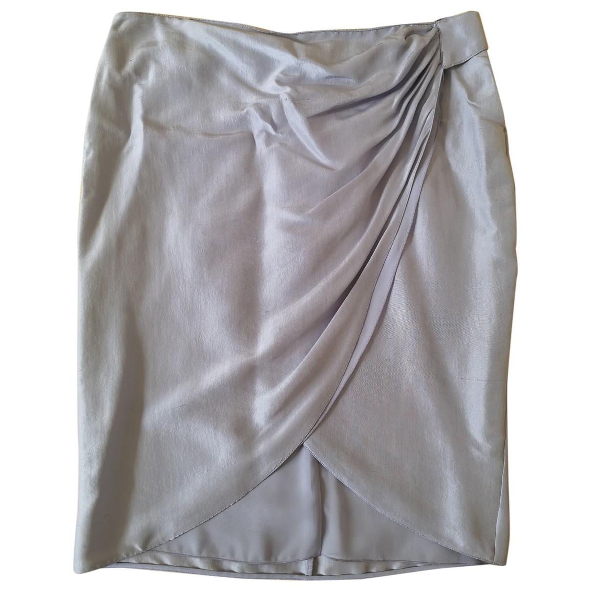 Falda midi de Seda Emporio Armani