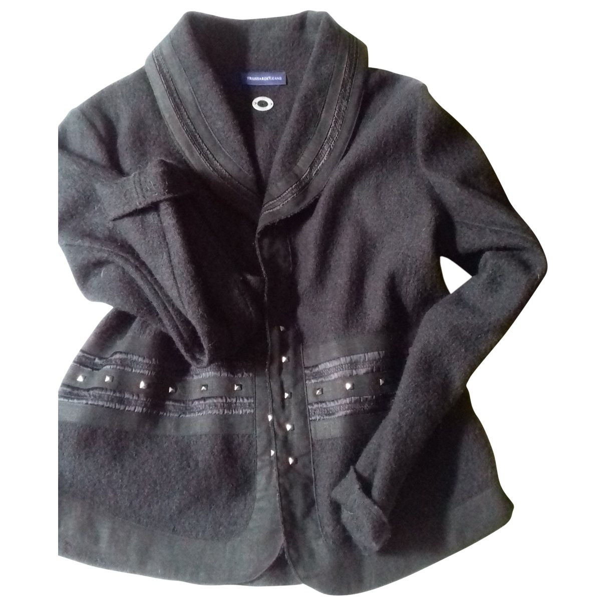 Trussardi - Veste   pour femme en laine - noir