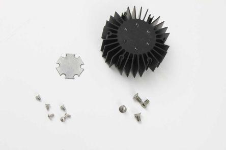 Intelligent LED Solutions Heatsink, Dragon 1, Duris 1, Duris 4, Oslon 1, Oslon 4, Stanley 1, Stanley 4, 50 (Dia.) x 20mm, Screw, Black