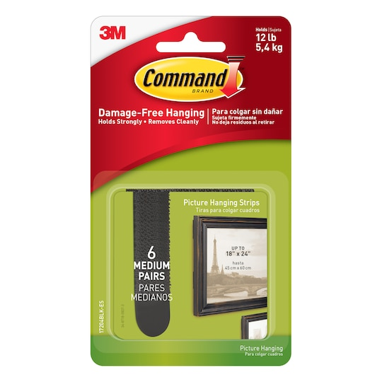 Command™ Picture Hanging Strips, Medium Black By 3M   12 lb   Michaels®