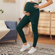 Maternity Leggings mit Netzeinsatz