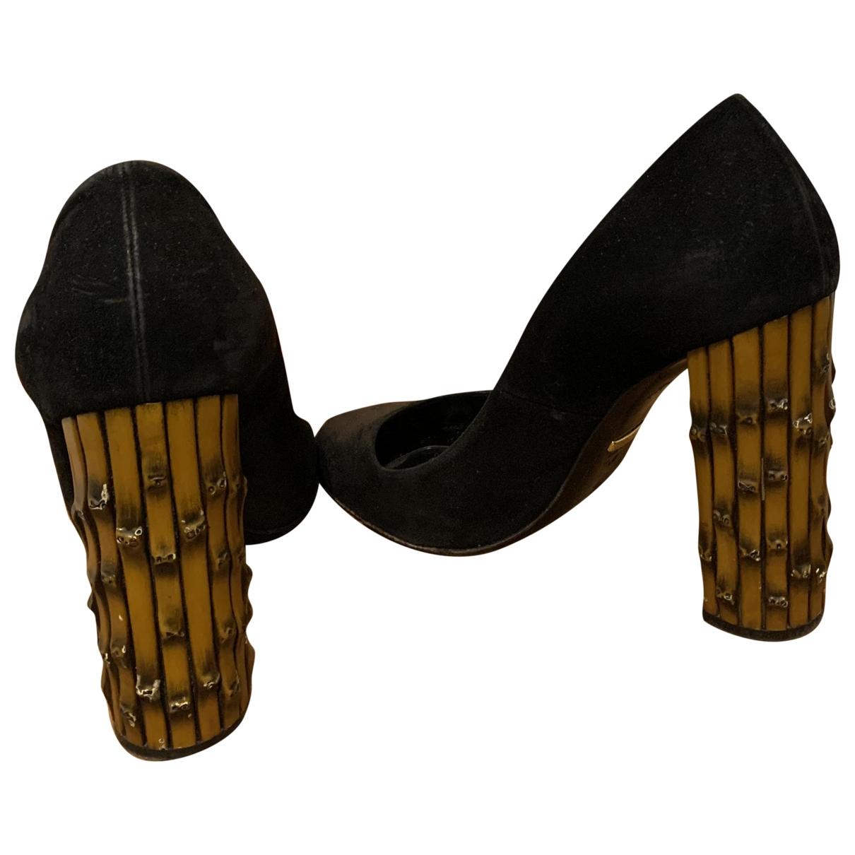 Gucci - Escarpins   pour femme en suede - noir