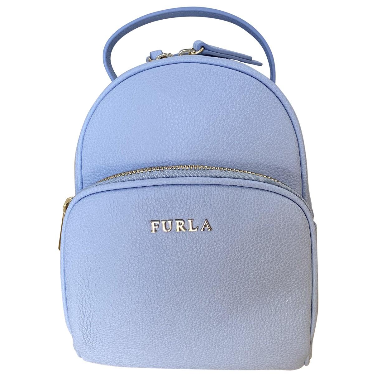 Furla \N Blue Leather backpack for Women \N