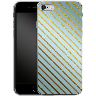 Apple iPhone 6 Silikon Handyhuelle - Gold Foil Stripe von Khristian Howell