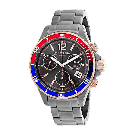 Oceanaut Mens Gray Stainless Steel Bracelet Watch-Oc0532, One Size , No Color Family